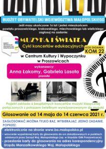 Muzyka iŚwiatła. Cykl koncertów edukacyjnych.